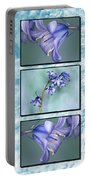 Bluebell Triptych Portable Battery Charger