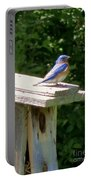 Bluebirds Make Me Happy Portable Battery Charger
