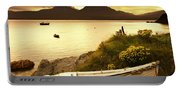 Boat On The Shore At Sunset, Island Of Portable Battery Charger