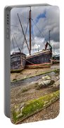 Boats And Logs At Pin Mill Portable Battery Charger