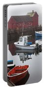 Boats At Rockport Harbor Portable Battery Charger
