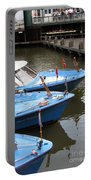 Boats In Amsterdam. Holland Portable Battery Charger