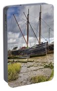 Boats On The Hard At Pin Mill Portable Battery Charger