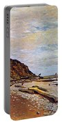 Boatyard Near Honfleur Portable Battery Charger by Claude Monet