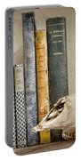 Bone Collector Library Portable Battery Charger by Heather Applegate