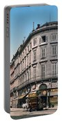 Bordeaux - France - Rue Chapeau Rouge From The Palace Richelieu Portable Battery Charger by International  Images