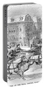 Boston: Sleighing, 1854 Portable Battery Charger