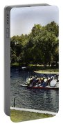 Boston: Swan Boats, C1900 Portable Battery Charger