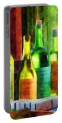 Bottles Of Wine Near Window Portable Battery Charger