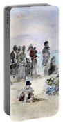Boudin: Beach Scene, 1869 Portable Battery Charger