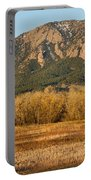 Boulder Colorado Flatiron View From Jay Rd Portable Battery Charger