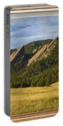 Boulder Colorado Flatirons Window Scenic View Portable Battery Charger