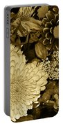 Bouquet In Sepia Portable Battery Charger