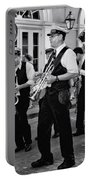 Bourbon Street Second Line Wedding New Orleans In Black And White Portable Battery Charger