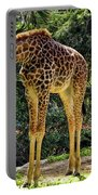 Bowing Giraffe Portable Battery Charger by Mariola Bitner