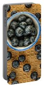 Bowl Of Fresh Blueberries Portable Battery Charger