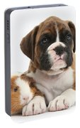 Boxer Puppy And Guinea Pig Portable Battery Charger