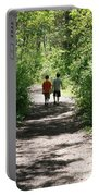 Boys Hiking In Woods Portable Battery Charger