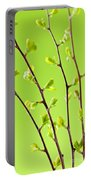 Branches With Green Spring Leaves Portable Battery Charger