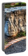 Brenda's Boulder At Dawn Or Altar In The Garden Portable Battery Charger