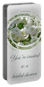 Bridal Shower Invitation - White Spirea Portable Battery Charger