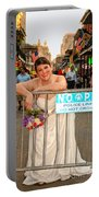 Bride And The Barricade On Bourbon Street Portable Battery Charger
