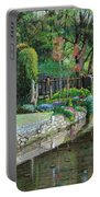Bridge And Garden - Bakewell - Derbyshire Portable Battery Charger