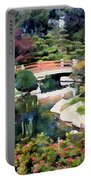 Bridge In Japanese Garden Portable Battery Charger