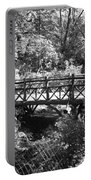 Bridge Of Centralpark In Black And White Portable Battery Charger
