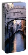 Bridge Of Sighs And Morning Colors In Venice Portable Battery Charger