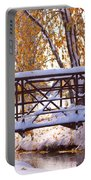 Bridge Over Icy Waters Portable Battery Charger by James BO  Insogna