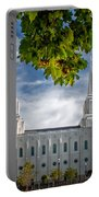 Brigham City Temple Leaves Arch Portable Battery Charger