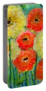 Bright Colored Flowers Shine Portable Battery Charger