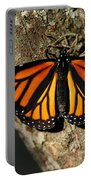 Bright Orange Monarch Butterfly Portable Battery Charger