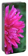 Bright Pink Dahlia Portable Battery Charger