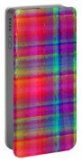 Bright Plaid Portable Battery Charger