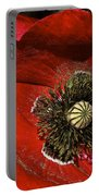 Bright Red Poppy Portable Battery Charger