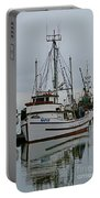 Brown And White Fish Boat Portable Battery Charger