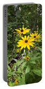 Brown-eyed Susan In The Woods Portable Battery Charger by Gary Eason