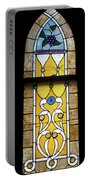 Brown Stained Glass Window Portable Battery Charger
