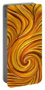 Brown Swirl Portable Battery Charger