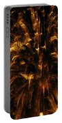 Brushed Gold Portable Battery Charger by Rhonda Barrett