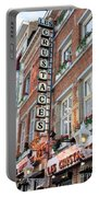 Brussels - Place Sainte Catherine Restaurants Portable Battery Charger by Carol Groenen