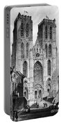 Brussels: Cathedral, 1838 Portable Battery Charger