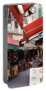 Brussels Restaurant Street - Rue De Bouchers Portable Battery Charger