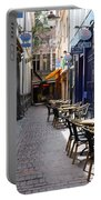 Brussels Side Street Cafe Portable Battery Charger