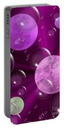 Bubbles And Moons - Purple Abstract Portable Battery Charger