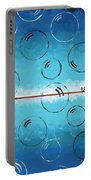 Bubbles Of Energy On A Blue Horizon Portable Battery Charger