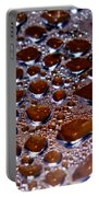 Bubbles Of Steam Cherry Wine Red Portable Battery Charger