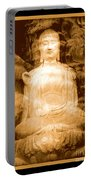 Buddha And Ancient Tree With Border Portable Battery Charger